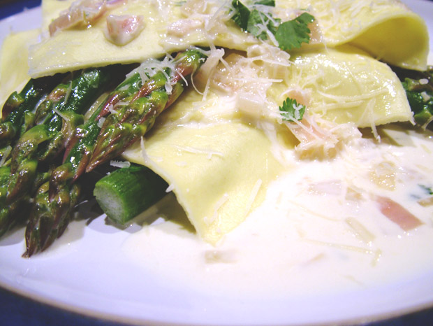 Open Ravioli of Asparagus