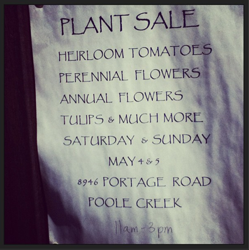 Poole Creek Plant and Seed Sale
