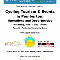 Community Meeting: Bike Events Tourism, Wednesday June 12, 7pm