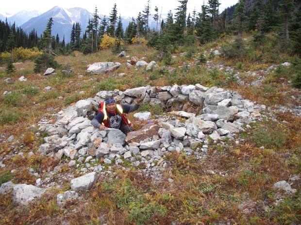 Johnny Jones Oct 2012 Hunting Blind, below Goat Mountain, one of 5