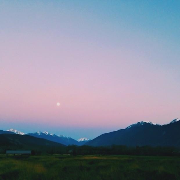 Moon rising over Pemberton. Photo by Gary Martin via http://instagram.com/garypmartin