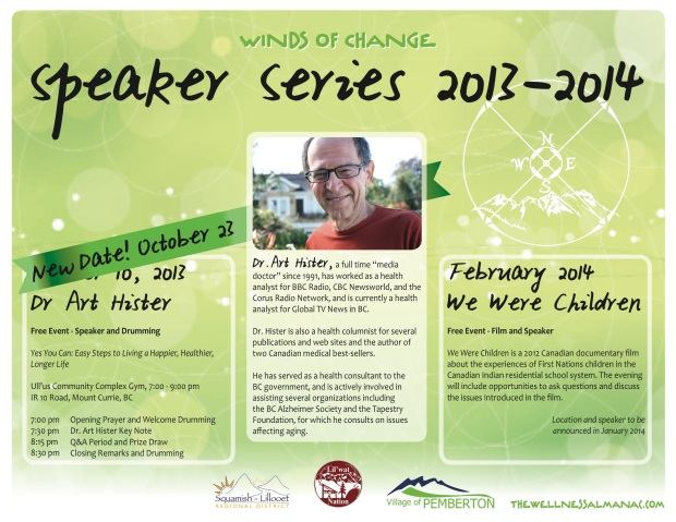 New date Speaker Series