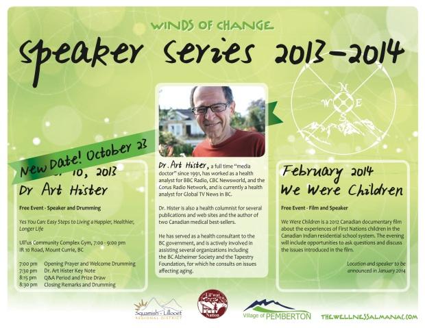 New date Speaker Series
