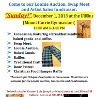 Event: Loonie Auction, Swap Meet and Artist Sales Fundraiser, Dec 1