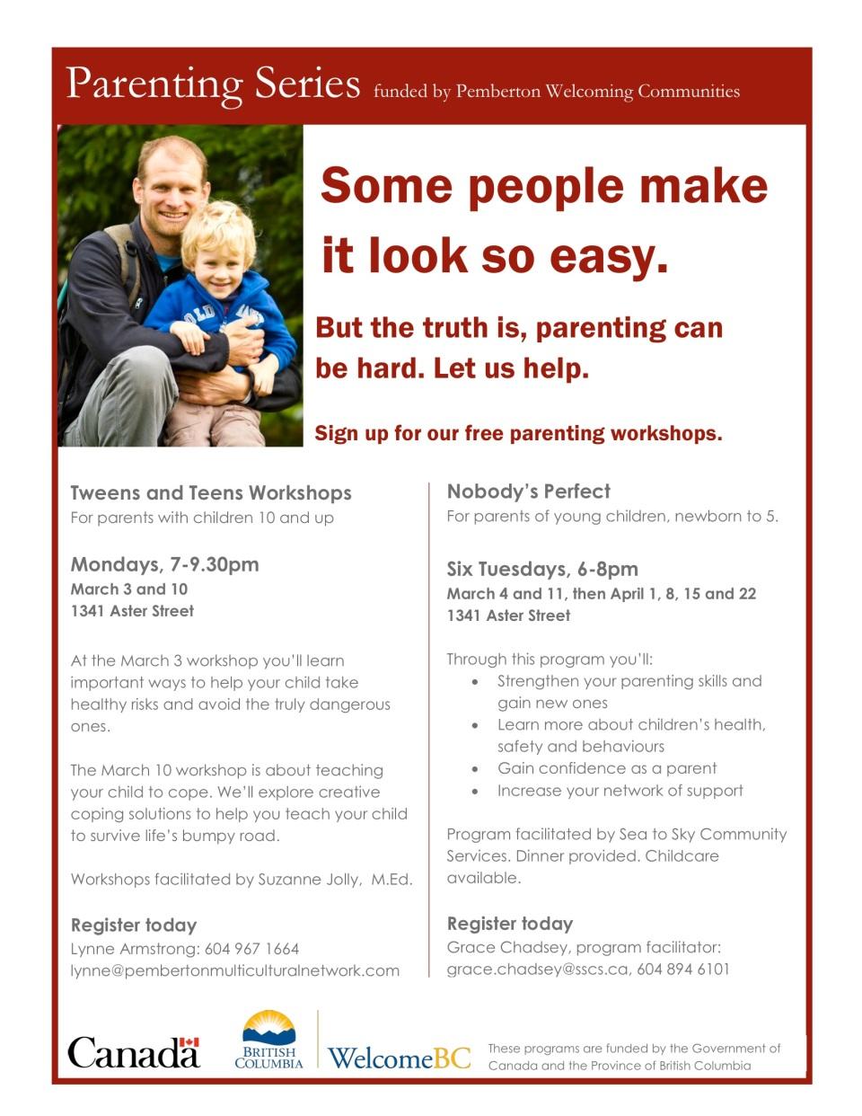 Pemberton Welcoming Communities parenting series
