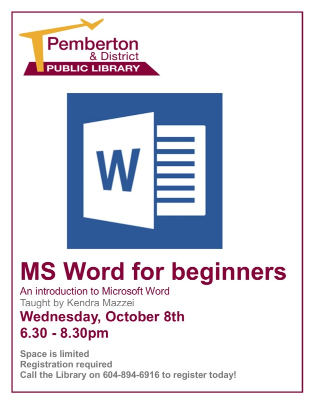 Word for beginners Oct 8th