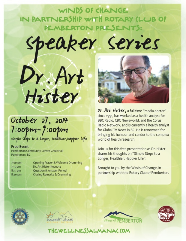 Dr Art Hister Winds of Change October 27
