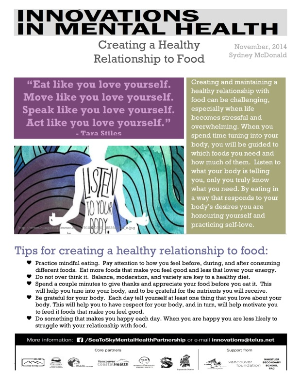Mental Health and Food