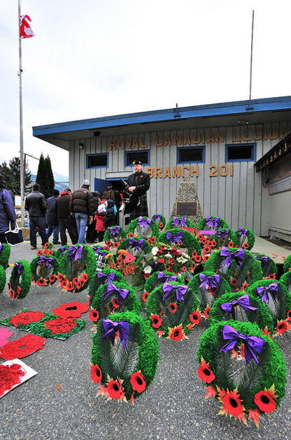 Remembrance Day photo by Dave Steers Pemberton