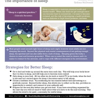 Mental Health Tips: Sleep is a Spiritual Practice