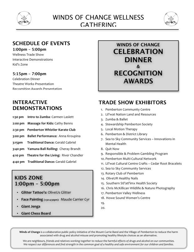 Wellness Gathering schedule