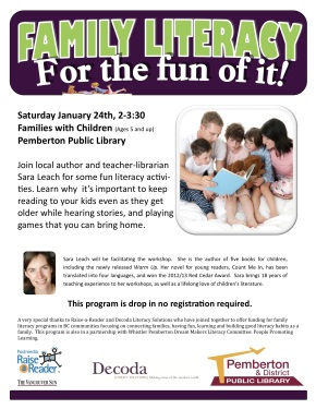 family literacy drop in