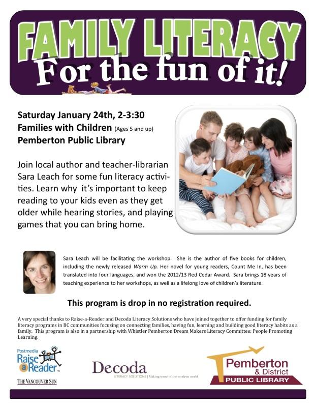 family literacy drop in
