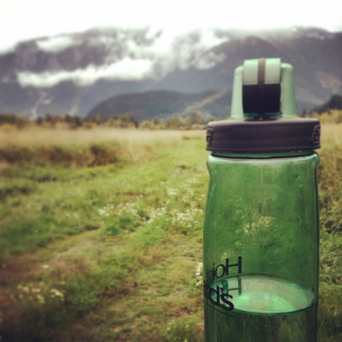 Water Bottle and Mount Currie