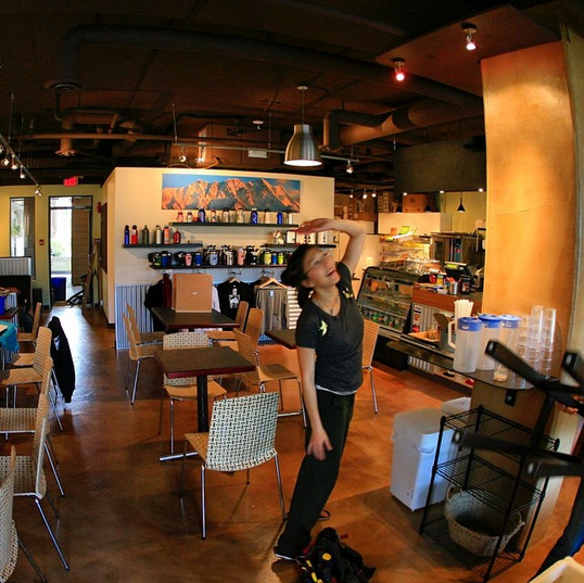 Model for a groovy arthouse cafe? Pemberton's own Mt Currie Coffee Co, shown here just before their opening 7 years ago.
