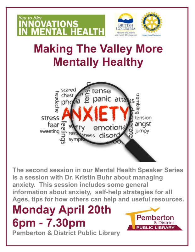 Making the Valley more Mentally Healthy April 20