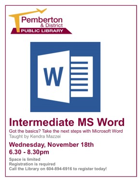 Intermediate Word Nov 18th