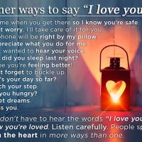 "Other ways to say ""I love you"""