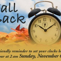Roll back your clocks: First Sunday in November means it's time to fall back.