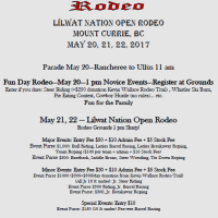 Lillooet Lake Rodeo May 20-22, 2017 is fun for the whole family and children under 10 are free