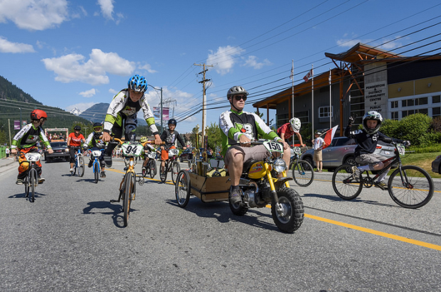 bmx in canada day parade by dave steers