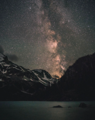 David Ward night sky over Joffre Lake