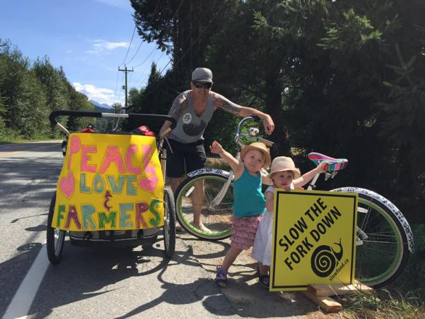 May family do Slow Food Cycle August 2017