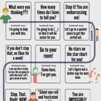Handy guide for stressed-out parents... or Things You Wish You Could Go Back in Time and Say Instead