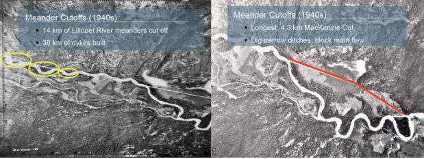 Veronica Woodruff 1947 aerial photos of Ryan and Lillooet Rivers fig 2