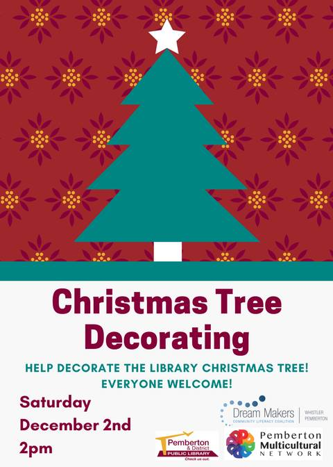 Dec 2 Help decorate the library christmas tree