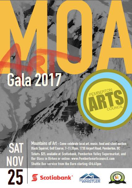Mountains of Art Pemberton Arts Council November 25 2017