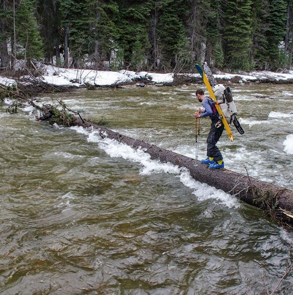 Sam McKoy braves a river crossing