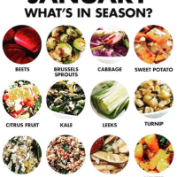 It's January. What's in season? What does it mean to eat in season, in the winter? Or simply to be in season?