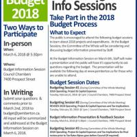 Village of Pemberton Budget Process invites your feedback