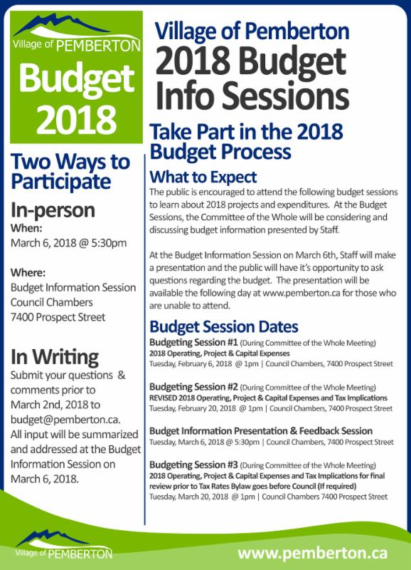 2018.01.25-2018 Budgeting Sessions