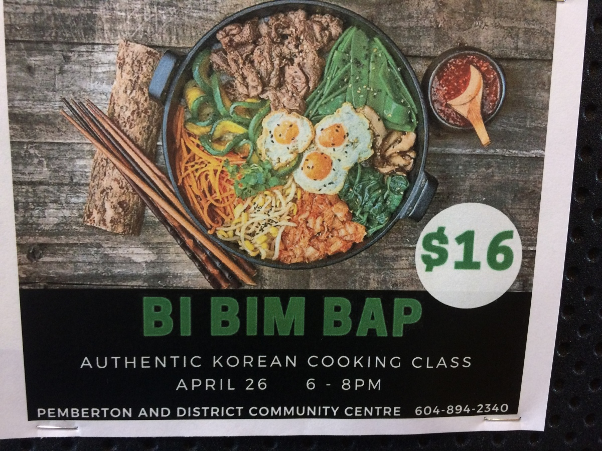 Learn to cook Korean, Thursday 26 April