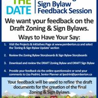 Give your feedback to the Village of Pemberton by May 11 on the draft Zoning and Sign Bylaws by online survey