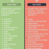 Foods for managing anxiety