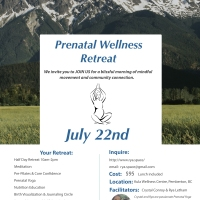 Prenatal retreat July 22 for mamas to be