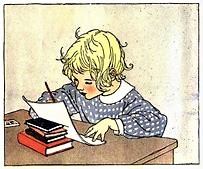 Animated Girl Writing