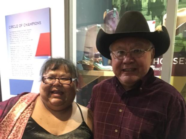 Ha7ya Burt Williams inducted into BC Sports Hall of Fame 25 Sept 2018 with daughter Tanina