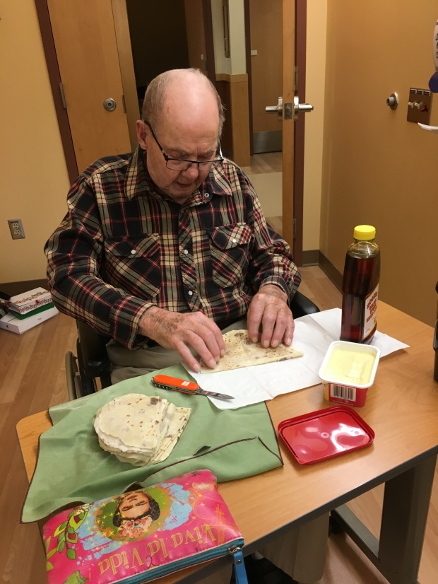 Mr Hellevang making lefse by Connie sobchak