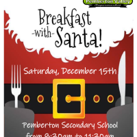 Pemberton Secondary Grads of 2019 host Breakfast with Santa, Saturday Dec 15, 8:30am - 11:30am