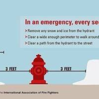 You don't have to hug a firefighter to show them you appreciate them... you could shovel clear a hydrant, too