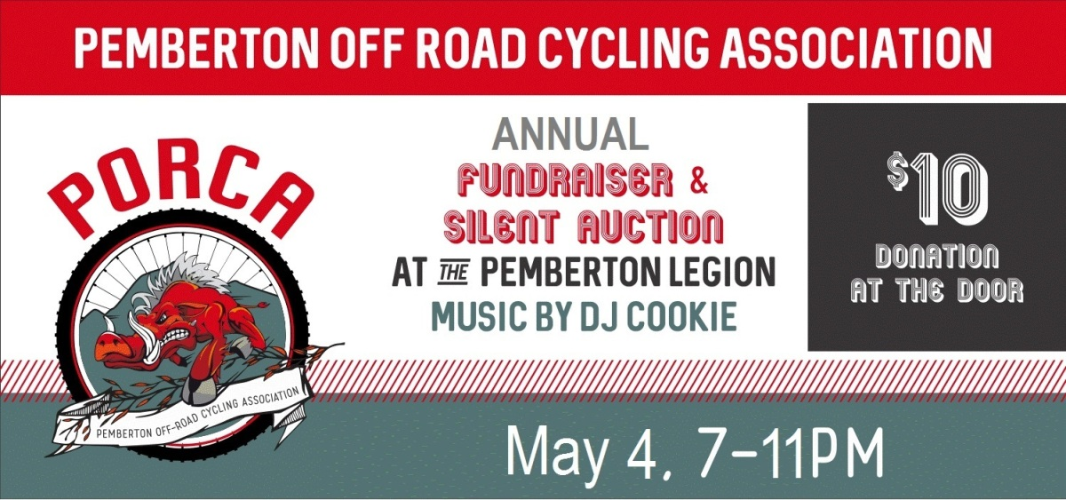 PORCA's Annual Fundraiser hits the Legion, Saturday May 4, 7 - 11pm