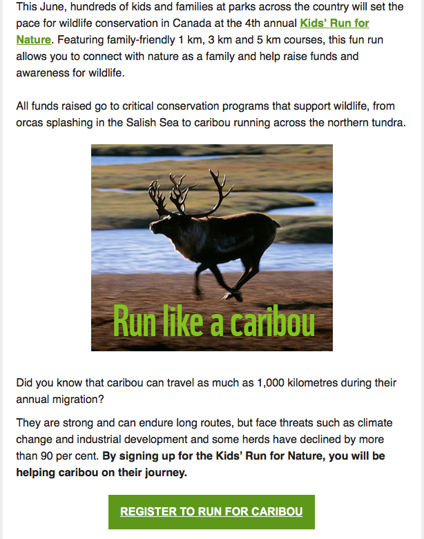 Run like a caribou