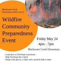 Blackwater Creek Elementary hosts a Wildfire Community Preparedness Event, Friday May 24