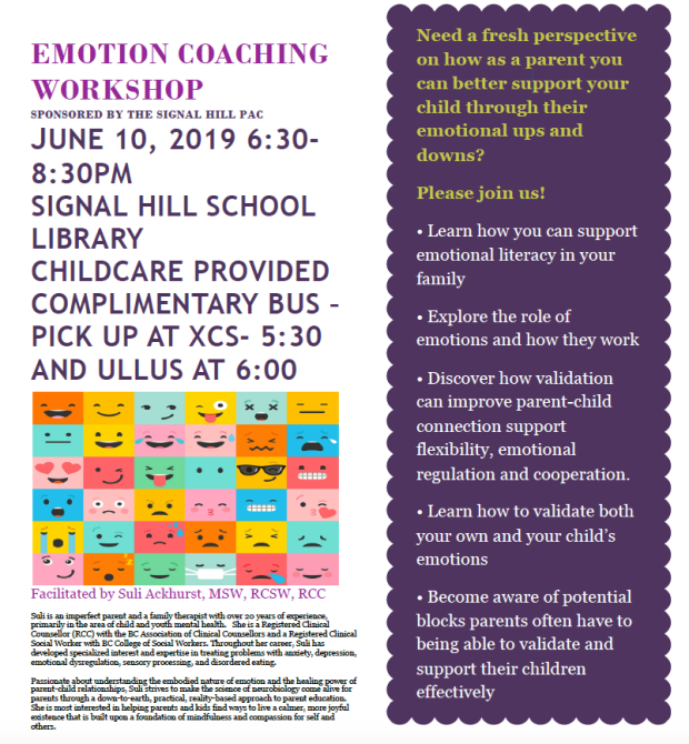 Emotion Coaching workshop