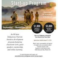 Applications still open for Indigenous tourism start-ups. Apply by August 1.