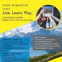 Whistler Learning Centre brings a selection of BCIT courses to Whistler for the fall. Register now.